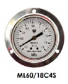 Oil pressure gauges for frond mounding WIGAM ML60/18C4S