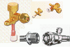 Air conditioning valves, Adaptors