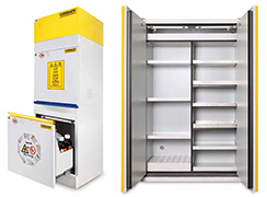 Safety storage cabinets certified for hazardous products