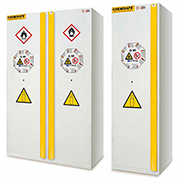 Certified safety cabinets for compressed gas cylinders for interiors B60G30, B120G30