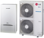 LG Therma V Air to Water Heat Pump- DC Inverter, capacity: 14,0 Kw  HU141.U31&HN1616.NK1