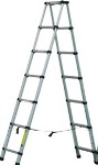 Telescopic Aluminium combi double ladder 2m